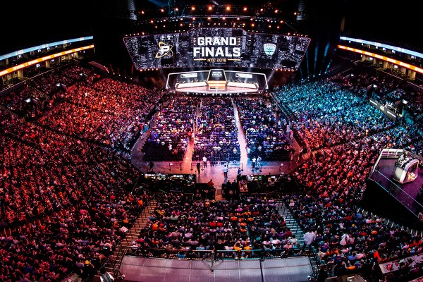 Packed Barclays Center full of Overwatch Fans attending Grand Finals.